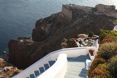 Staircase in the Cyclades Stock Photo