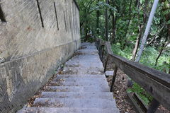 Staircase degrees downwards go up to go. Down Royalty Free Stock Photography