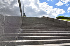 Staircase degrees downwards go up to go. Down Stock Photography