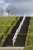 Staircase on a dike Stock Photos