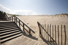 Staircase in the dunes of The Hague Stock Images