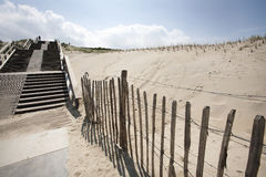 Staircase in the dunes of The Hague Royalty Free Stock Photo
