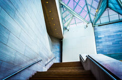 Staircase in the East Building of the National Gallery of Art, i Royalty Free Stock Image