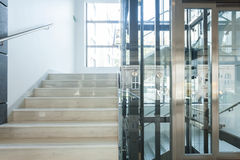 Staircase and elevator in business centre Royalty Free Stock Image