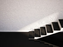Staircase in an empty room Stock Photos