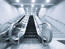 Staircase and escalator Stock Images