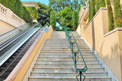 Staircase and escalator in Monte Carlo, Monaco. Stock Images