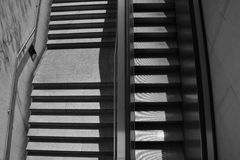 Staircase and escalator Royalty Free Stock Images