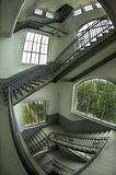 Staircase in the Esher style royalty free stock images