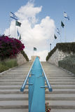 Staircase and Flags Stock Photography