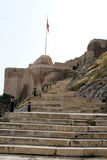 Staircase and fortress Royalty Free Stock Images