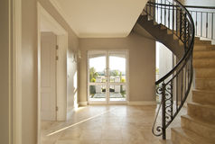 Staircase and front door Stock Image