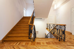 Staircase. Front view of an elegant new staircase royalty free stock photo