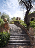 Staircase in the garden Stock Image
