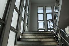 The staircase and glass stock photos