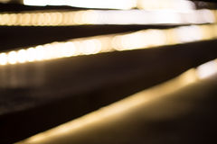 Staircase with glowing blur bokeh Royalty Free Stock Photography