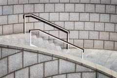 Staircase with a handrail Royalty Free Stock Images