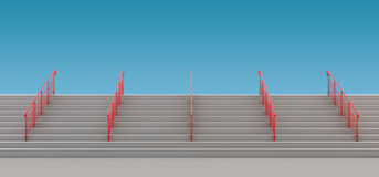Staircase with handrails to nowhere Royalty Free Stock Image
