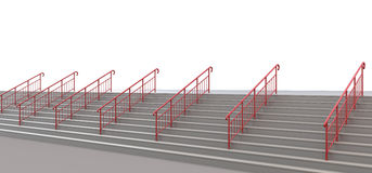 Staircase with handrails to nowhere on a white Royalty Free Stock Image