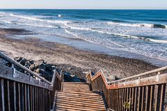 Staircase Headed Down to South Carlsbad State Beach stock photos
