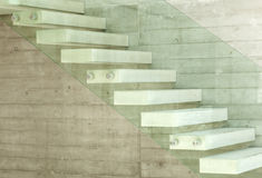 Staircase. House, interior, modern architecture, staircase view Stock Photos