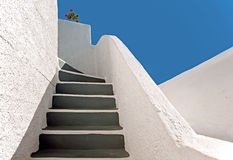 The staircase at Imerovigli, Santorini, Greece Royalty Free Stock Photography