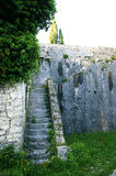 Staircase inside the fortress Shpanola Royalty Free Stock Images