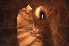The staircase inside of the Maiden Tower (Baku) Royalty Free Stock Photography