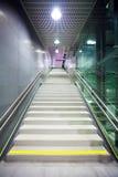 Staircase inside a public metro statio Stock Photo