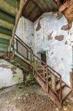 Staircase inside Trans-Allegheny Lunatic Asylum Stock Photo