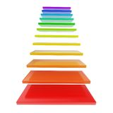 Staircase ladder made of rainbow colored steps stock illustration