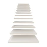 Staircase ladder made of white steps isolated Royalty Free Stock Images