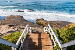 Staircase and Landing for Beach Access stock photo