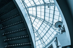 Staircase and large glass dome in Towson Town Center Stock Photos