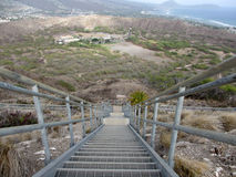 Staircase leading into Diamond Head Crater Royalty Free Stock Photography