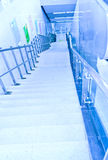 Staircase leading down Stock Images