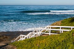 Staircase Leading Down to Windansea Beach stock images