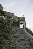 Staircase leading to the fortress of Forza d`Argro. Stone staircase leading to the gateway of the fortress of Forza d`Argro Stock Photos