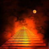 Staircase leading to heaven or hell. Stock Photos