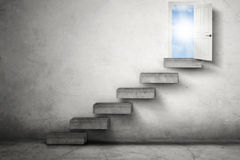 Staircase Leading To Opportunity Door Stock Photos