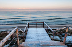 Staircase leading towards sea Stock Photography