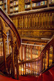 Staircase at the Lello and Irmao bookstore in Porto Stock Photos