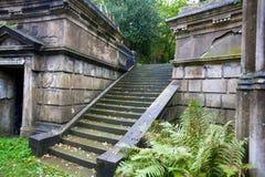 Staircase at London cemetery stock photos