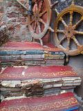 Staircase made of books in Venice. From the Libreria Acqua Alta in Venice, Italy Royalty Free Stock Photo