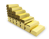 Staircase made of golden bars Stock Photos