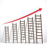 Staircase market graph representation Royalty Free Stock Photo