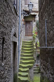 Staircase medieval, Bomarzo Royalty Free Stock Photos