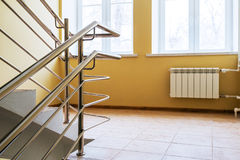 Staircase with metallic handrails Stock Photo
