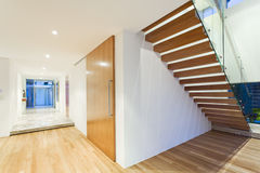 Staircase in modern house royalty free stock image