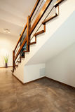 Staircase in a modern house Royalty Free Stock Images